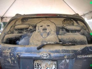 arta masinilor murdare, dirty car art
