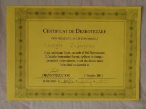 certificat de dezbotezare