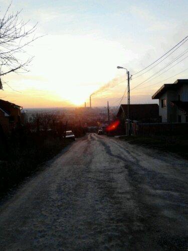 CET-ul din Oradea vazut de pe deal
